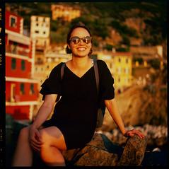 Sunset at the Cinque Terre (MikkoPylkko) Tags: hasselblad 500cm carl zeiss planar 80mm fuji provia 100f rdp iii epson v700 betterscanning cinque terre manarola riomaggiore italy portrait sunset la spezia