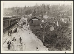 c. 1911 Margaret Lang Photo Collection - The Original Railway / Train Depot in White Rock, British Columbia, Canada (Treasures from the Past) Tags: whiterock bc britishcolumbia railway train depot camperspecial photo margaretlang