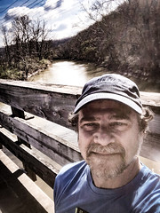 Obligatory selfie over the Hocking (danbruell) Tags: running hocking athens ohio spring filmfestival