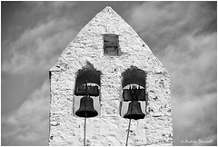 The Bells (manxmaid2000) Tags: church bells tower chapel monochrome old parish malew isleofman iom manx white whitewash brick stone bell pull rope chain heritage nikon worship rural