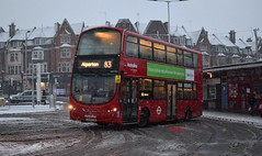 VW1764 Metroline (KLTP17) Tags: vw1764 on metroline wrightbus gemini goldersgreen snow london bus lk59cxb