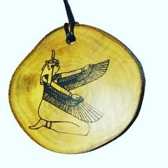 Goddess Isis Hieroglyph Symbol Egyptian Symbol Egypt Necklace Pendant Wooden Charm #GoddessIsis Retrosheep.com (RetrosheepCharms) Tags: goddess isis hieroglyph symbol egyptian egypt necklace pendant wooden charm goddessisis retrosheepcom