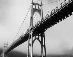 St Johns Bridge One (massimosvestito) Tags: massimosvestito massimo svestito bnw blackandwhite blackwhite bridge landscape portland oregon