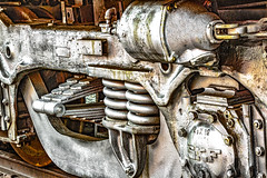 Underneath the Train IMG_0134 (Explore) (3Bs7Gs) Tags: santafe59l trainsprings trainbrakepiston trainmuseums museumoftheamericanrailroadfriscotx friscotx railroadcollections railroadhistory americana american railroad history americanrailroadhistory historictrains