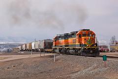 BNSF 1601 Sedalia 18 Feb 19 (AK Ween) Tags: bnsf bnsf1601 bnsf6720 emd sd402 sedalia colorado jointline pikespeaklocal train railroad