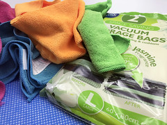 Cleaning essentials stock photo (bmstores) Tags: clean cleaning tidy mess no fuss hassle spring cleanliness marie kondo mrs hinch vacuum bags micro fibre cloths multi coloured blue white jay cloth