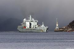 RFA Tidespring, A136, IMO 9655535; Loch Long, Firth of Clyde, Scotland (Michael Leek Photography) Tags: ship navalvessel nato natowarships lochlong hmnbclyde hmnb hmsneptune faslane coulport cowal cowalpeninsula argyllandbute argyll rfa royalfleetauxiliary royalnavy britainsarmedforces britainsnavy replenishmentship scotland scottishcoastline scottishlandscapes scotlandslandscapes scottishshipping westcoastofscotland westernscotland firthofclyde clyde michaelleek michaelleekphotography