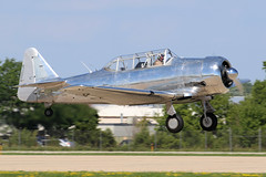 N99NS, North American T6 harvard Mkii, Oshkosh 2018 (ColinParker777) Tags: t6 harvard at6 texan north american usaf air force classic warbird united states navy takeoff departure formation display shiny pair duo osh oshkosh kosh eaa experimental aviation association airventure 2018 airplane aircraft military aeroplane plane piston radial engines trainer canon 7d 7d2 7dmk2 7dmkii 7dii 100400 lens pro zoom telephoto wisconsin wi usa cockpit grass sky tree n99ns