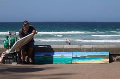Art by the sea (LSydney) Tags: beach sea ocean art painting