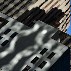 shimmer (jfre81) Tags: houston texas tx tex downtown main street building architecture sunset light shimmer pattern waves lines block windows shadow silhouette diagonal square crop abstract geometry