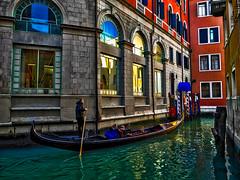 The gondolier (Marco Trovò) Tags: marcotrovò hdr venezia venice italia italy building edificio city città mare sea barca boat architetture architecture gondola