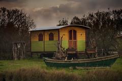 Caravan (JLM62380) Tags: trailer barque camargue france nature saintesmariesdelamer roulotte nuages