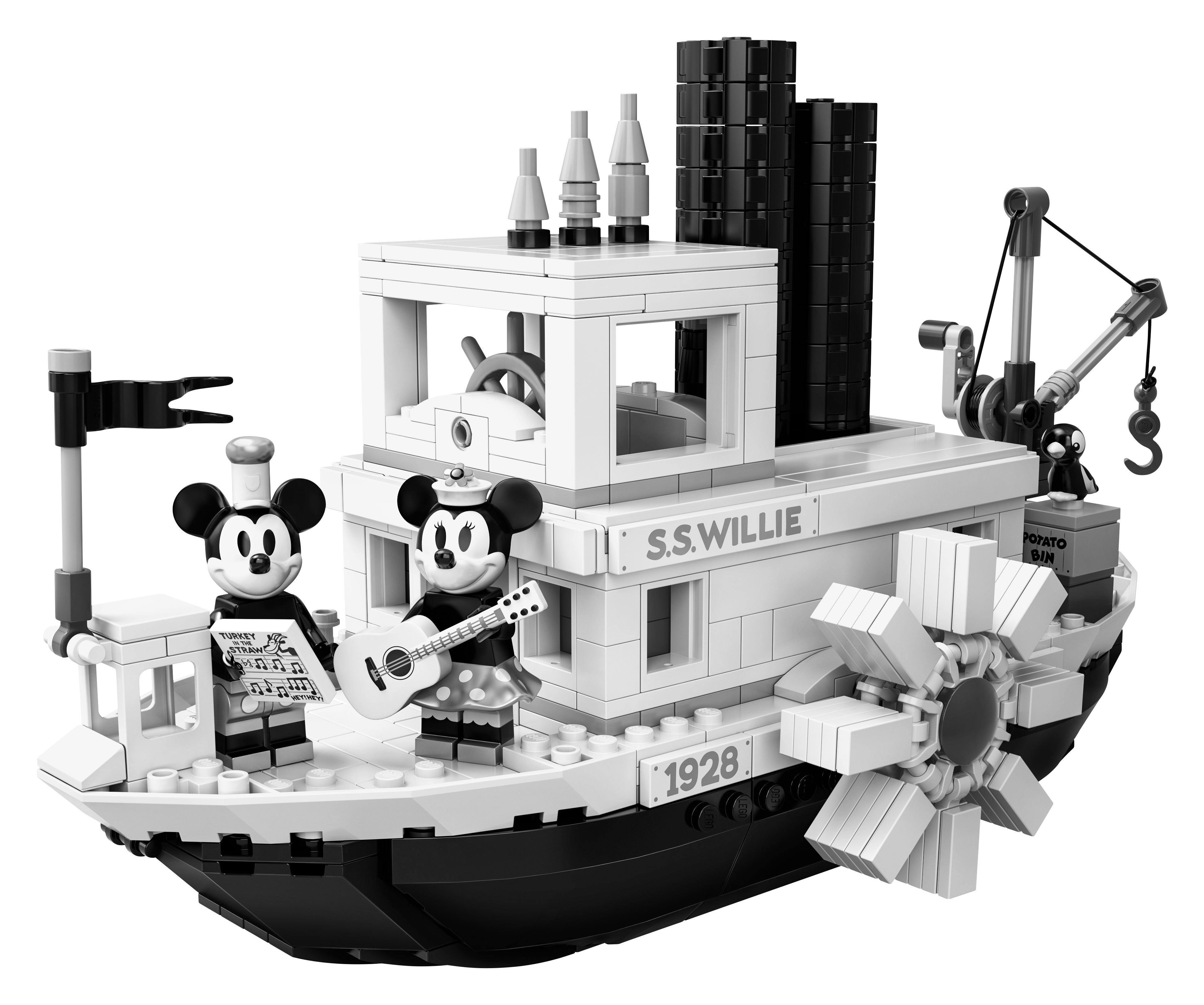 Disney Steamboat Willie 21317 New 2019 Ideas Mickey Mouse Set 751pcs