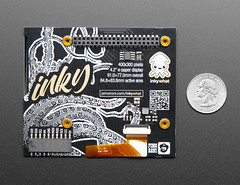 Pimoroni Inky wHAT (ePaper/eInk/EPD) - Black/White (adafruit) Tags: 4142 adafruit pimoroni pimoroniinkywhat bonnets bonnet diy electronics projects diyelectronics diyprojects accessories screens displays new products epapereinkepd blackwhite