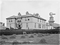 """""""Head Office, Cable Station, Waterville, Co. Kerry"""" is really Valentia (National Library of Ireland on The Commons) Tags: robertfrench williamlawrence lawrencecollection lawrencephotographicstudio thelawrencephotographcollection glassnegative nationallibraryofireland headquarters cablestation cokerry telegrams transatlanticcable america countykerry probablecataloguecorrection correction possiblecataloguecorrection windmill stacks"""