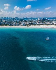 miami Beach from the air (mano.photo24) Tags: miami beach florida usa sunny helicopter sailboat speedboat seascape water ocean blue beautiful colorful aerial