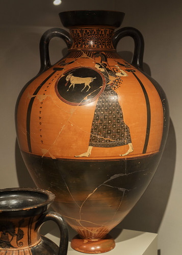 Panathenaic amphora from Vulci