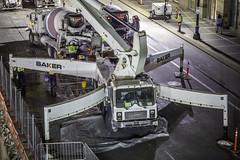 Texas Tower Mat Pour Construction Detail (Mabry Campbell) Tags: cemex harriscounty houston texas texastower usa building construction downtown engineering image photo photograph f28 mabrycampbell march 2019 march92019 20190309untitledcampbellh6a4531 100mm ¹⁄₄₀sec 800 ef100mmf28lmacroisusm