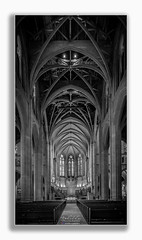 A Place of Worship (Rohit KC Photography) Tags: cathedral church holyplace interior highceiling benches seat blackandwhite photography mood peaceful beautiful gracecathedral sanfrancisco california pillars windows christ religion canon canonphotos canonphotographer rohitkcphotography framed vignette lights worship pray prayers