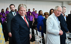 Moses and Charles CJ9ed (Cayman Islands Government Information Services) Tags: royalarrival27march cayman royal visit charles prince wales camilla duchess cornwall owen roberts international airport united kingdom great britain
