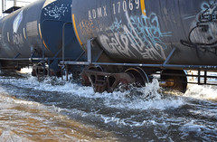 Sir, This is a No Wake Zone (Jacob Narup) Tags: bnsf bnsfrailway bnsfclinton bnclinton cp canadianpacific cpdavenportsub train railfan railroad railfanning trains flood flooding water davenportriverfront davenport davenportiowa davenportia