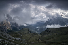 Before the Storm (ludwigriml) Tags: beauty blue chalkstone cliffs clouds cumulus dolomites forest grass green hill italy klimbing landscape ludwigrimlnaturallightphotography mountainmeadow mountaintop mountaineers revelation rocks southtyrol storm streem treck valley alps bourn brook fog foggy hiking lake mountains nature outdoors path rill scenic sunrise trekking auronzodicadore provinceofbelluno it