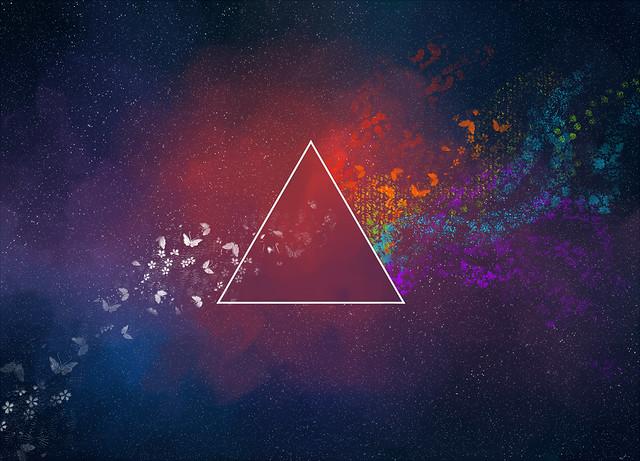 Обои треугольник, абстракция, пятна, бабочки, узоры картинки на рабочий стол, фото скачать бесплатно