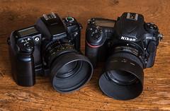 FinePix S1 Pro (2000) /  Nikon D500  (2016) (maoby) Tags: pourpre collection camera vintage old finepix 2000 nikon d500