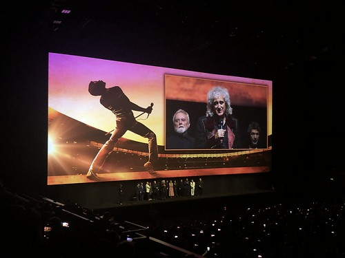 Brian May speaking at the premiere of Bohemian Rhapsody