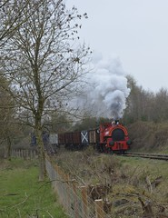 At the Chasewater Railway (5) (lewispix) Tags: 040st bagnall 284246 steam locomotive chasewater