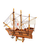 Mayflower ship isolated on white background thumbnail