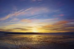 Sundown over Brean Down (Sundornvic) Tags: beach sunset sea sand shore coast westonsupermare bristol channel sky clouds