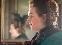 A lady (kimbenson45) Tags: georgianera green hairstyle historical livinghistory mirror reenactor reflected reflection woman