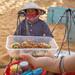 Streetfood Snacks in front of the Red Sand Dunes in Mui Ne, Vietnam