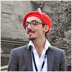 The Beret Puss (FotoFling Scotland) Tags: beard edinburgh flickr glasses male pussy