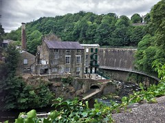 Torr Vale Mill & Millennium Walkway (Shaun Ballisat (Transport Photos)) Tags: mill millennium walkway embankment cotton grade 2 listed building old vintage steam electric water power powered derbyshire new mills torr vale gorge daniel strafford 18th century textiles architecture