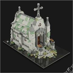 Neo Gothic Mausoleum (Corvus Auriac MOCs) Tags: lego moc afol building mausoleum graveyard tomb grave stone death art design bricks creation