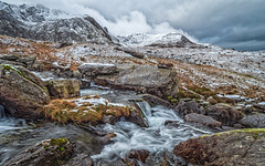 The thaw?.... (Lee Harris Photography) Tags: landscape river longexposure clouds cloud snowdonia mountains rocks rugged outdoors contrast lumixg9 wideangle wales light foliage winter snow