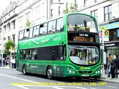 Route 16, Santry to Ballinteer (Kingston). Dublin Bus, WH1, July 2009 (Shamrock 105) Tags: dublin dublinbus summerhillgarage ensignbus dieselelectric hybrid oconnellstreet ballinteer wrightbus gemini ballymena