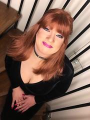 Happy Valentine's day (Sissy kaylah) Tags: trannie trans transvestite tranny crossdress crossdresser crossdressing heavymakeup velvet redhead