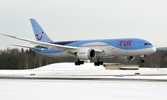TUI G-TUIB, OSL ENGM Gardermoen (Inger Bjørndal Foss) Tags: gtuib tui boeing 787 dreamliner osl engm gardermoen