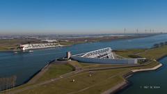 Maeslantkering (Peet de Rouw) Tags: maeslantkering stormsurgebarrier deltawerken nieuwewaterweg zuidholland aerial drone djimavicplatinum landtong rozenburg