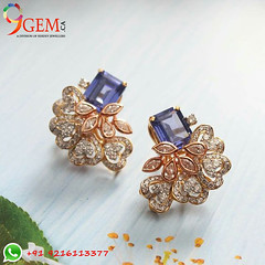 Beautiful pair of Blue Sapphire Earrings (9gemcanada) Tags: bluesapphire neelam luxury jewellery dateline perfectstone beautiful natural fashionable gemstone fashion