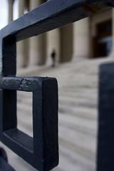 DSC01897 (romainlettuce) Tags: budapest szépművészetimúzeum stairs column gate silhouette subframing streetphotography sonyrx100iv figuretoground notionalspace