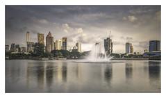 Lake View (christophe plc) Tags: parc city lake water building architecture christopheplc plouhinec bangkok benjakitti clouds nuage sky ciel urban ville agglomération skyscraper longpose