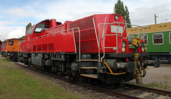 Voith Garvita (Schwanzus_Longus) Tags: halle saale german germany museum modern railroad railway diesel engine loco locomotive road switcher shunter cargo freight db deutsche bahn voith gravita class baureihe br261 br 261