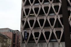 Welbeck Street Car Park,13 (doojohn701) Tags: brutalist architecture concrete 1970s flourescent postmodernist buildings darkness carpark london sky uk