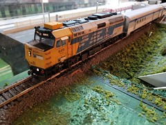 VIA 6411 (Trains By Perry) Tags: hoscale ho hotrak march2019 setup via viarailcanada f40ph wrapped