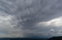 storm over Ipswich (dustaway) Tags: storms australianweather australia cumulonimbusincus mammatus tamborinemountain mounttamborine view cloudscape clouds overcast queensland sequeensland