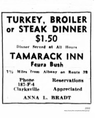 1933   july Tamarack Inn feura Bush  Bethlehem (albany group archive) Tags: 1930s old albany ny vintage photos picture photo photograph history historic historical